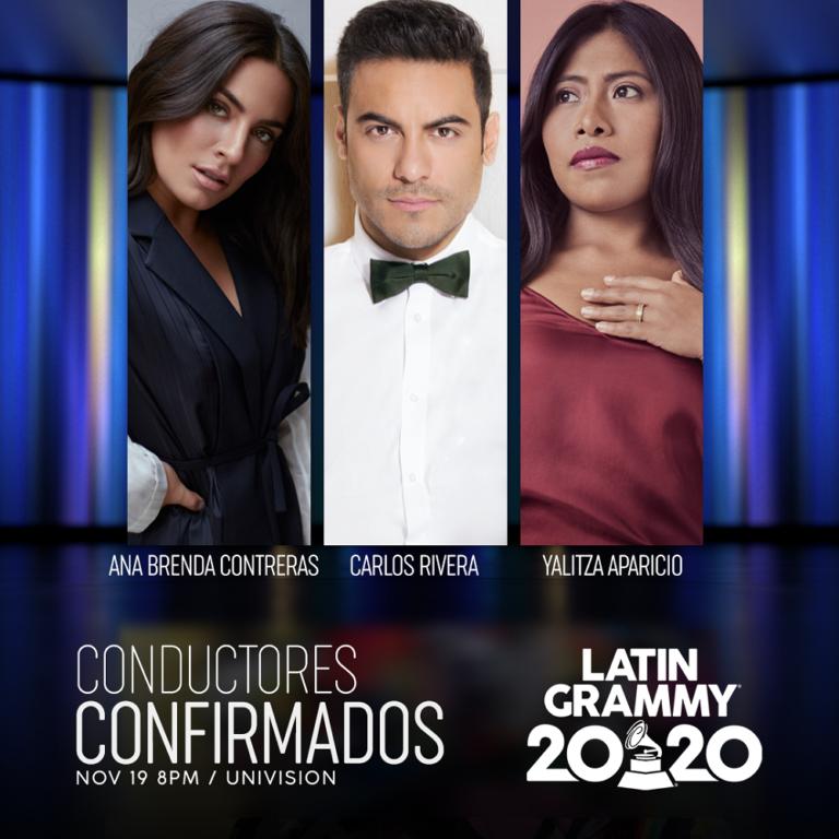Ana Brenda y Yalitza Aparicio se suman como conductoras de los Latin Grammy junto a Carlos Rivera
